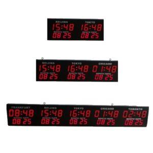 Табло часовых поясов со светодиодными цифрами