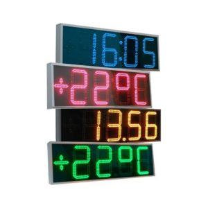 Большие уличные часы-термометр