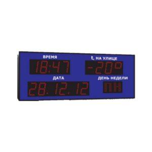 Часы-календарь (время-ЧЧ/ММ, дата-ЧЧ/ММ/ГГ, температура воздуха и день недели)