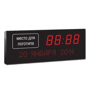 Часы-календарь с логотипом (время-ЧЧ/ММ, дата-ЧЧ/ММ/ГГ)