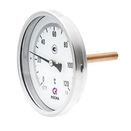 Термометр осевой биметаллический БТ