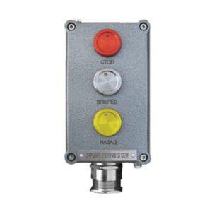 Посты взрывозащищенные кнопочные серии ПВК-ПК из алюминия или пластика с пьезокнопками