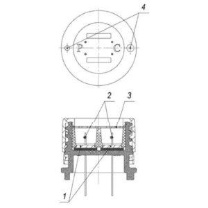 ИБЯЛ.413923.031-03 комплект датчика термохимического на горючие газы для СГГ-6М (новый), СТГ-1 (в чёрном корпусе)