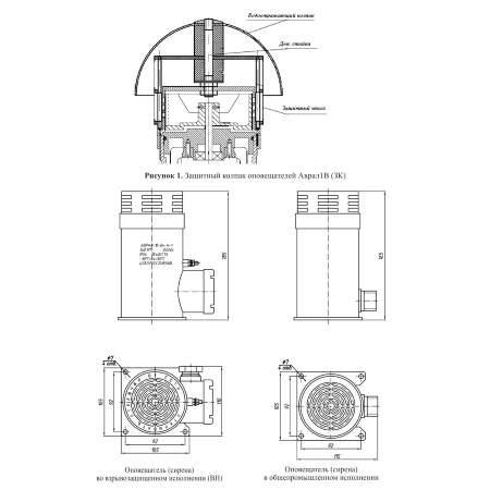 АВРАЛ-1В, АВРАЛ-1В-ВН оповещатели звуковые электродинамические взрывозащищенные (1)