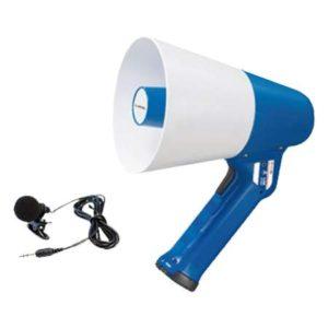 АТ-М112АВС мегафон ручной со встроенным и петличным микрофонами
