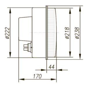 БИС-200, БИС-300 блоки излучателей светодиодные светофорные