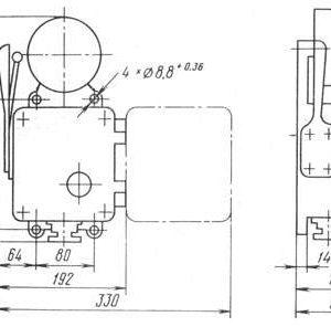 ЗВЛП звонок переменного тока с лампой схема