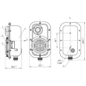 ПАСО1-П посты световой и звуковой сигнализации с пьезоизлучателем