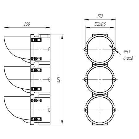 СС-3 светофоры с лампой накаливания (1)