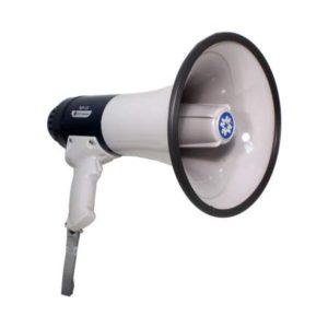 ТОР-15 мегафон ручной со встроенным микрофоном и спецсигналами