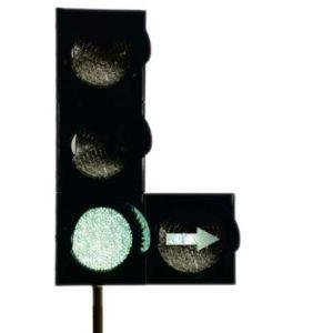 Т.1.2. светофор дорожный транспортный светодиодный