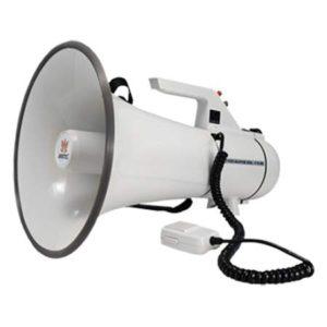 AT-M140BCA мегафон ручной с выносным микрофоном, сигналом сирены и линейным входом